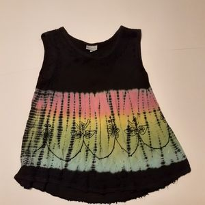 India Boutique boho tie-dye embroidered top